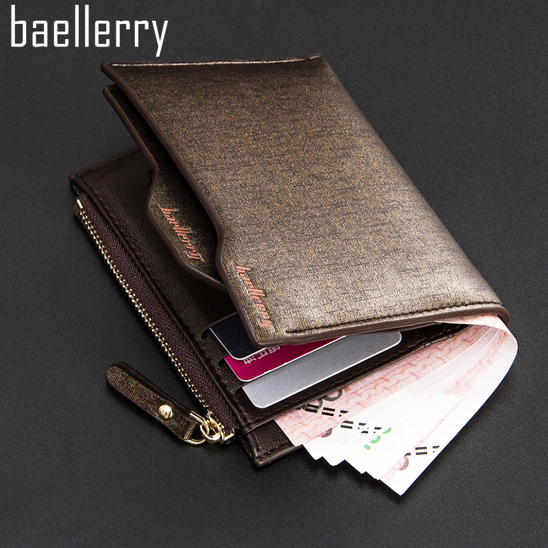 2016 New Fashion Men Wallets Bifold Wallet ID Card Holder Coin Purse Pockets Clutch With Zipper Men Wallet With Coin Bag M1051